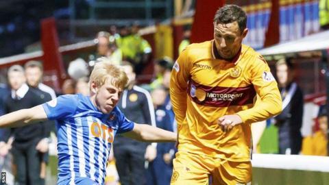 Scott McDonald played in Motherwell's win over Kilmarnock on Tuesday
