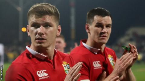 Owen Farrell and Johnny Sexton