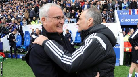 Claudio Ranieri and Francesco Guidolin