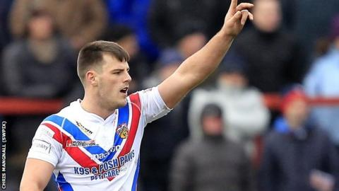 Wakefield centre Joe Arundel doubled his Super League try tally for the season