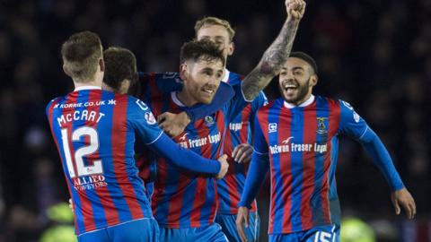 Greg Tansey takes the plaudits after netting the opener for Inverness