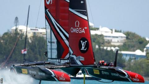 New Zealand compete at the 2017 America's Cup