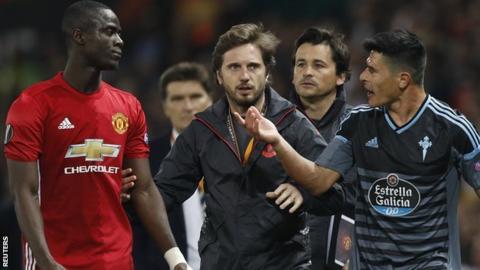 Eric Bailly given three game ban for Celta Vigo red card