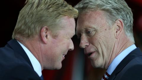 Ronald Koeman and David Moyes