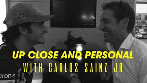 Carlos Sainz Jr and Tom Clarkson