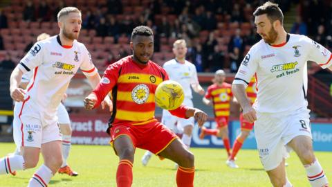 Inverness CT were 4-1 winners at Firhill