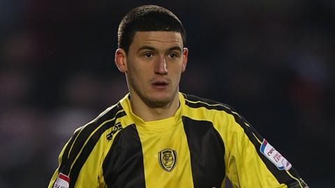 Anthony O'Connor in action for Burton Albion