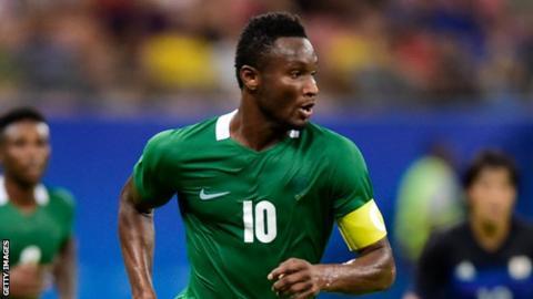 Nigeria captain John Mikel Obi