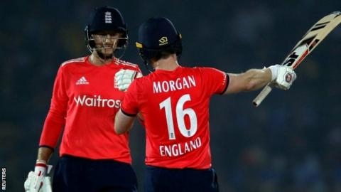 Joe Root and Eoin Morgan