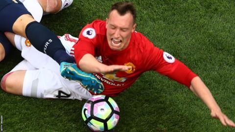 Phil Jones of Manchester United