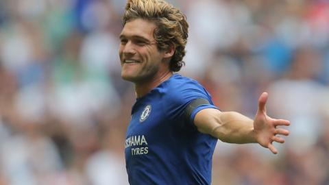 Marcos Alonso of Chelsea celebrates