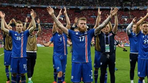 The Icelandic team's 'Viking clap' with fans after matches became one of the enduring images of Euro 2016