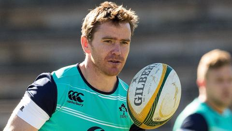 Eoin Reddan training in South Africa ahead of Saturday's third and decisive Test