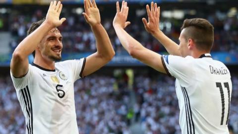 Germany celebrate a third goal