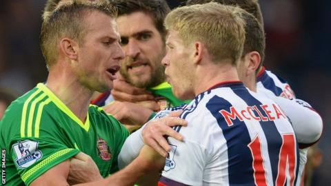 Sunderland's Lee Cattermole and West Brom's James McClean