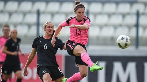 Jane Ross opened the scoring for Scotland