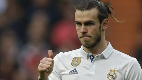 Real Madrid midfielder Gareth Bale