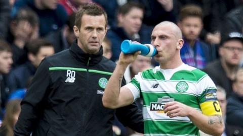 Celtic manager and captain Scott Brown