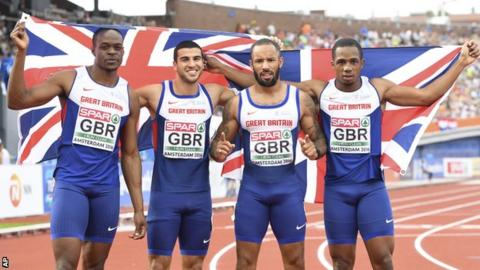 James Dasalou, Adam Gemili, James Ellington and CJ Ujah