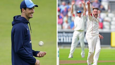 Middlesex and England fast bowler Steven Finn (left) is a target for Lancashire, who still have another year of service left on Kyle Jarvis's contract