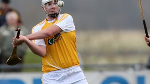 Conor Carson hit the Roscommon net in Antrim's victory on Saturday