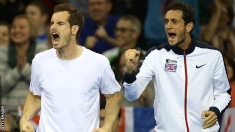 Andy Murray and James Ward