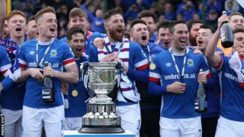 Linfield bridged a five-year gap by lifting the Gibson Cup on the final day of the league season in April