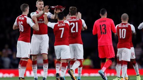 Arsenal warm-up