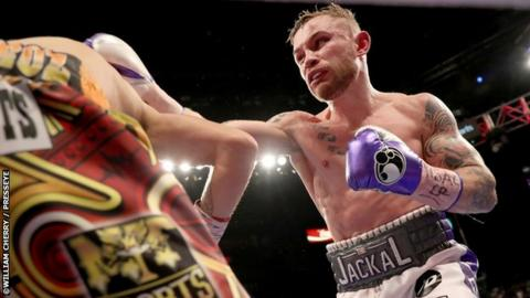 Frampton confirms date for next fight in Belfast