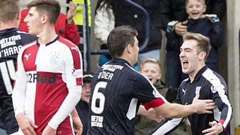 Dundee celebrate against Rangers
