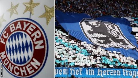 Bayern crest and 1860 Munich crest