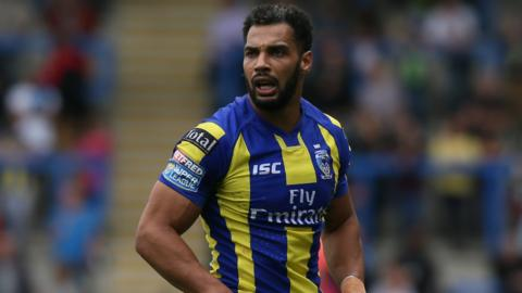 Warrington centre Ryan Atkins was one of three double try scorers for Wire