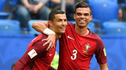 Cristiano Ronaldo and Pepe