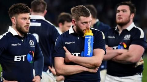 Scrum-half Ali Price, fly-half Finn Russell and prop Zander Fagerson reflect on Scotland's defeat at Twickenham
