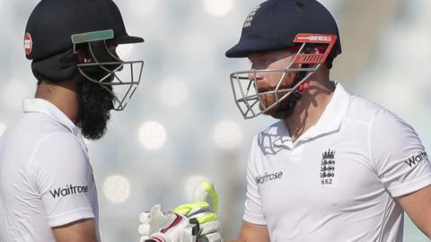 England batsmen Moeen Ali and Jonny Bairstow struck important fifties