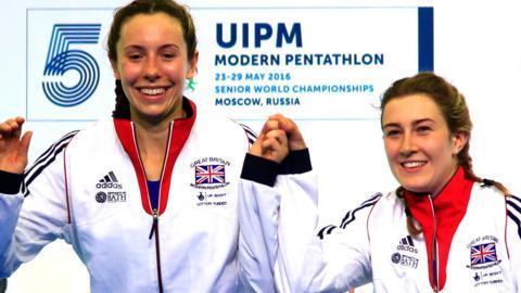 Britain's Joanna Muir and Samantha Murray