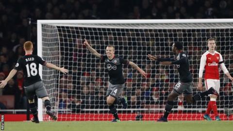 Clasie scores for Southampton