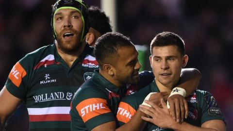 European Champions Cup: Leicester 54-29 Castres