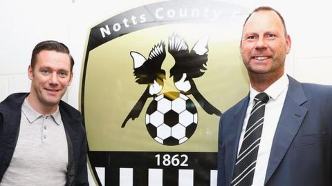 Notts boss Kevin Nolan (left) and chairman Alan Hardy