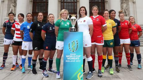 The competing teams in the Women's Rugby World Cup