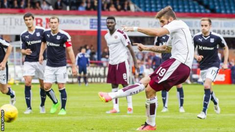 Juanma levels from the penalty spot at Dens Park
