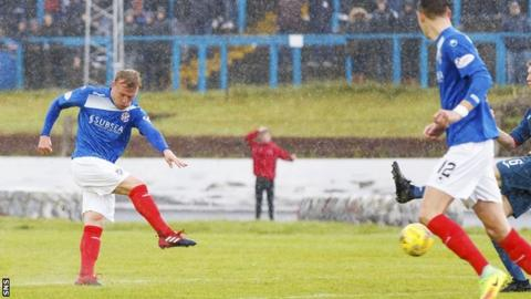Fraser Mullen scores for Cowdenbeath against East Kilbride