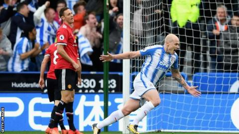 Huddersfield beat Man Utd for first time in 65 years