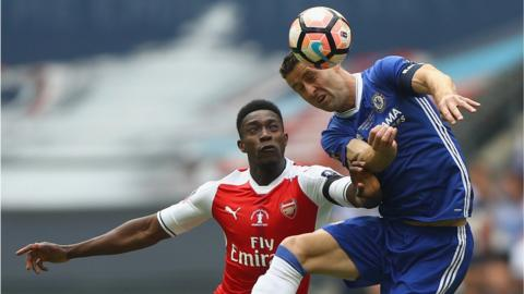 Danny Welbeck and Gary Cahill