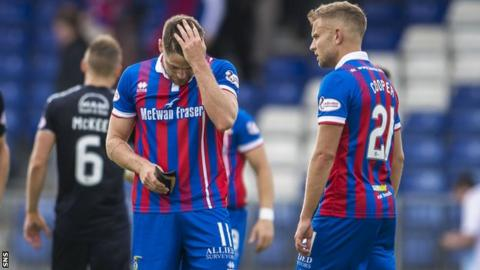 Inverness CT's Iain Vigurs and Alex Cooper