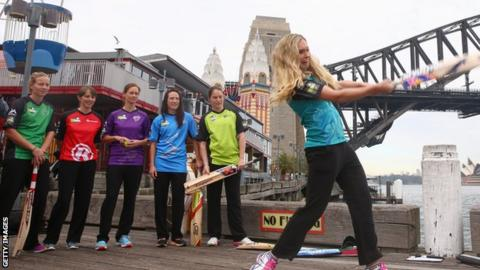 Holly Ferling and other Big Bash League players
