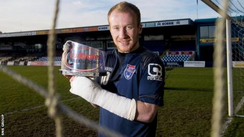 Ross County striker Liam Boyce