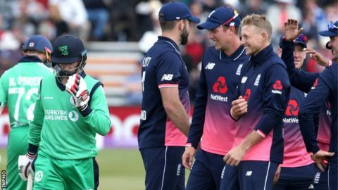 Ireland captain William Porterfield walks off after being dismissed in Friday's rout