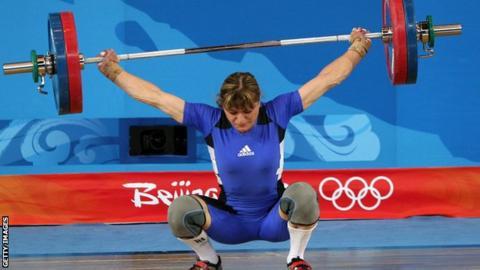 Kazahkstan weightlifter Irina Nekrassova