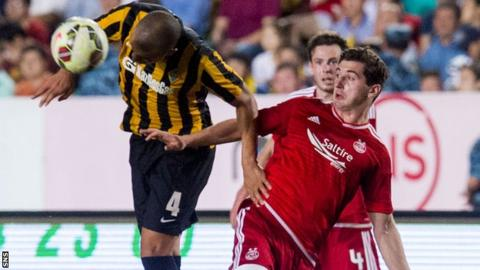 Kenny McLean in action for Aberdeen against Kairat Almaty